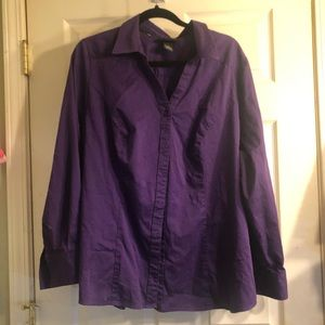 Plus size purple Long sleeve blouse size 24